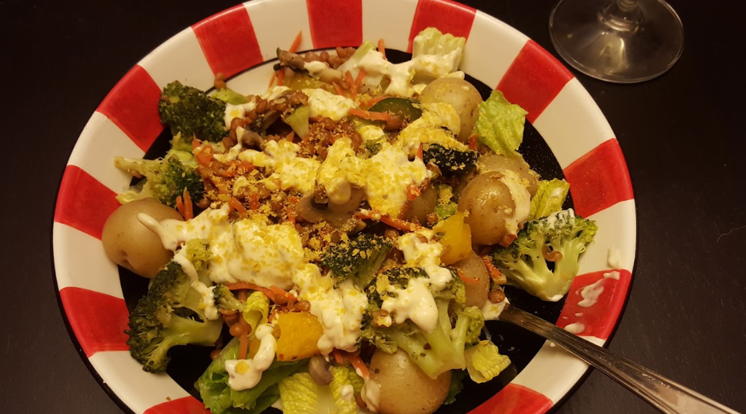 Mixed Greens Pasta & Lentil Salad