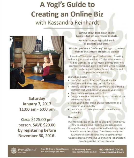 A Yogi's Guide To Creating An Online Biz