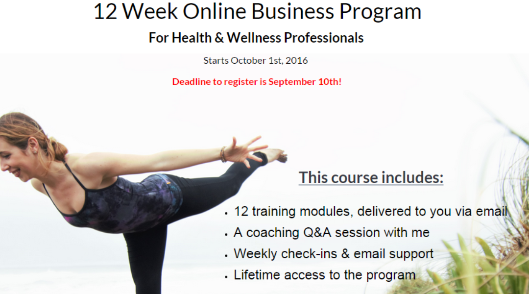 Online Biz Training for Yoga Teachers!