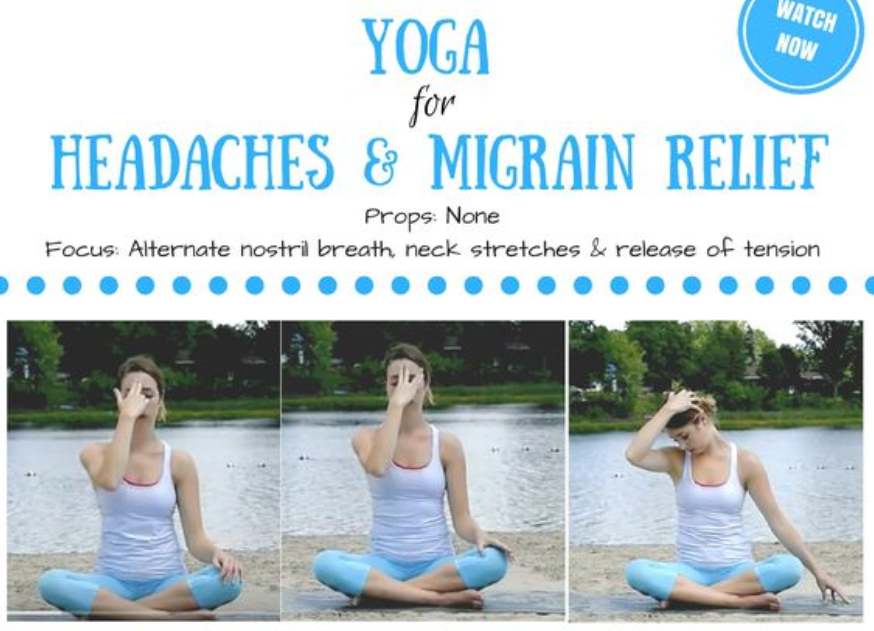 Yoga for Headaches & Migraines – 15 min Yoga Class