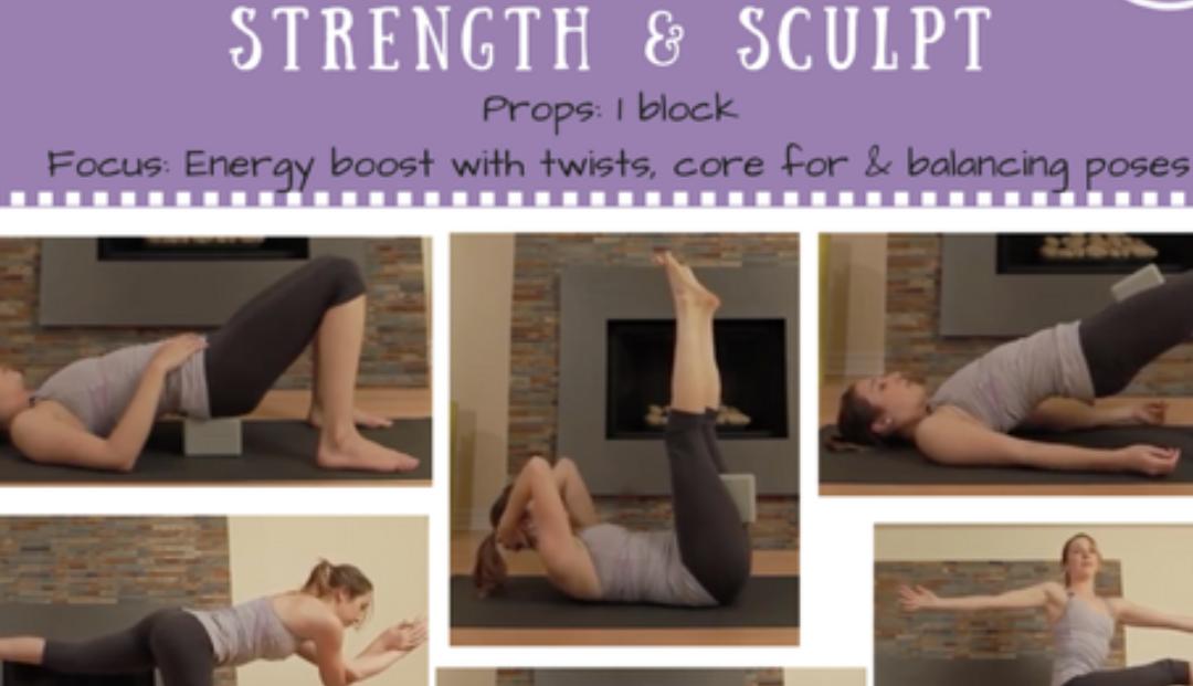 Total Body Workout – Vinyasa Yoga HIIT Strength & Sculpt {30 min}