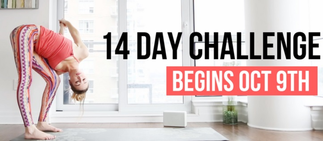 14 Day Yoga Challenge begins October 9th! Are you in?