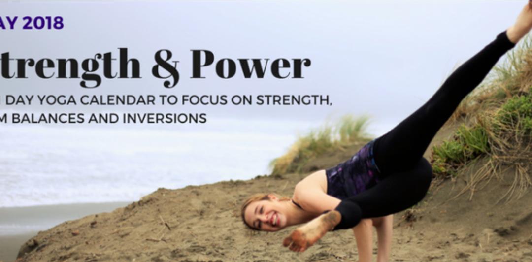 "NEW ""Strength & Power"" May Yoga Calendar!"